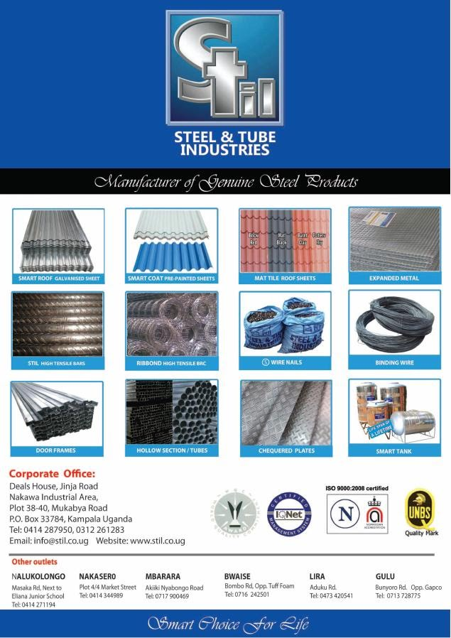 Steel Amp Tube Industries Uganda Economy