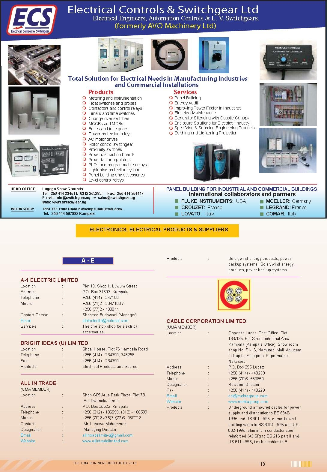 Electronics, Electrical Products & Suppliers - Uganda Economy